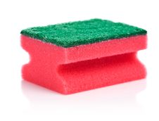 Free Red Sponge Royalty Free Stock Image - 17359116