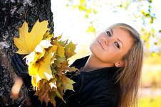 Free Woman, Autumn. Stock Photography - 17359582