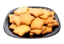 Asterisk Cookies, Isolated. Royalty Free Stock Image