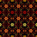 Free Black Floral Seamless Pattern Royalty Free Stock Photos - 17366488