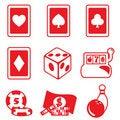 Free Gambling Icon Set Stock Image - 17366981