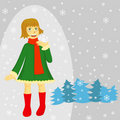 Free Winter Girl Stock Photos - 17367063