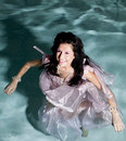 Free Standing In Water In Dress Smile Stock Photos - 17367493