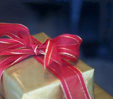 Free Gift Box And Red Ribbon Stock Photo - 17360170
