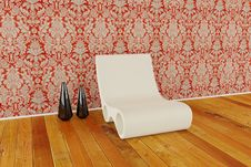 Free Modern Chair In 3d Royalty Free Stock Photography - 17360617