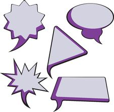 Free Speech Bubbles Royalty Free Stock Photography - 17360657