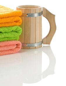 Free Mug With Towels Stock Photography - 17360662
