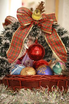 Free Christmas Basket 2 Stock Image - 17360951