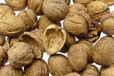 Walnuts As Background Texture Royalty Free Stock Photography