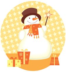 Free Snowman Christmas Gifts Royalty Free Stock Images - 17362899