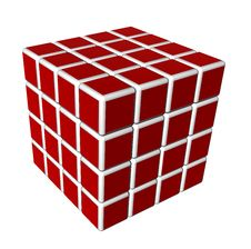 Free 3d Cubes In Red And Isolated On A White Background Stock Photography - 17364202