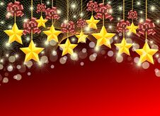 Free Christmas Stars Background Royalty Free Stock Photography - 17364267