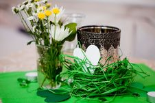 Free Decorated Wedding Table And Flowers Royalty Free Stock Photo - 17364925