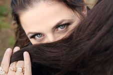 Free Young Lady S Eyes Royalty Free Stock Image - 17365026