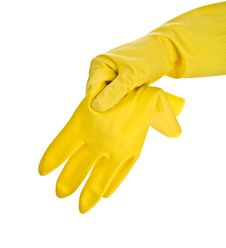 Hand In Glove With Glove Stock Images
