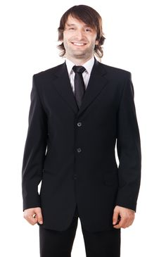 Young Handsome Man In Elegant Suit Royalty Free Stock Images