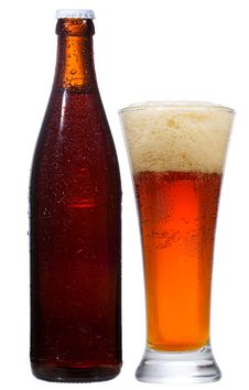 Bottle And Glass With Beer Stock Photos