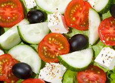 Free Salad With Vegetables Royalty Free Stock Photo - 17366605