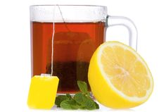 Free Tea With Mint And Lemon Stock Image - 17366621