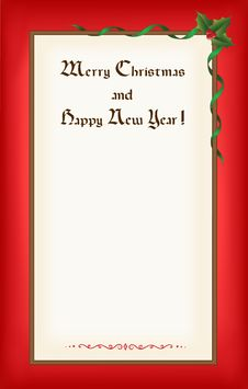 Old Christmas (New Year) Blank Stock Photo