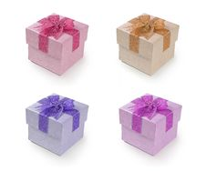 Free Gift Box With Ribbon Royalty Free Stock Photos - 17366858