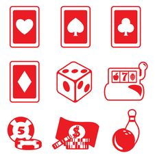 Free Gambling Icon Set Stock Image - 17366981