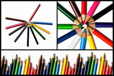 Free Collection Of Color Pencil Royalty Free Stock Image - 17366996