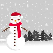 Free Snowman And Christmas Stock Photography - 17367012