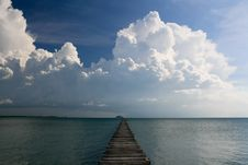 Free Ocean Pier Landscape Stock Photography - 17367032