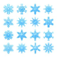 Free Snowflakes Set Royalty Free Stock Photo - 17367205