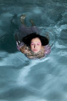 Coming Out Of Water Eyes Closed Stock Image