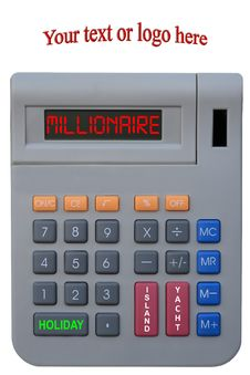 Free Millionaire Calculator Wish List Stock Photography - 17367462
