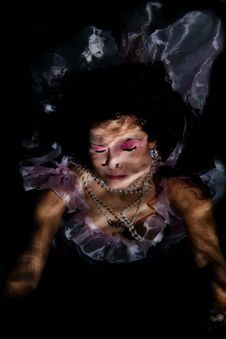 Free Underwater Dress Eyes Closed Royalty Free Stock Image - 17367606