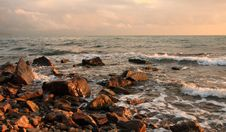 Free Beautiful Sight Of A Stony Seashore Before Royalty Free Stock Photos - 17367908