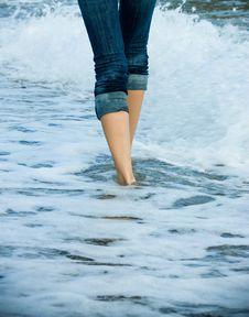 Free Walking Along The Sea Cost Stock Photo - 17368020