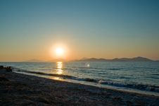 Aegean Sunset Stock Images