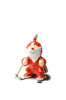 Free Santa Claus Skiing Stock Image - 17368151