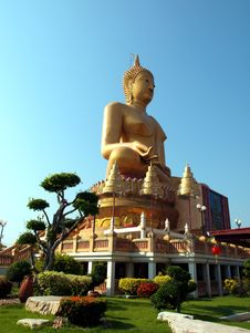 Free Large Buddha Image Royalty Free Stock Images - 17368169