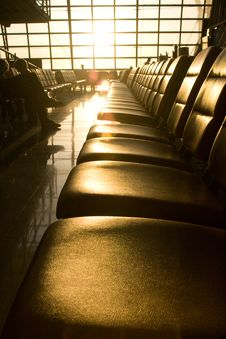 Free Early Morning Airport Seats Royalty Free Stock Photo - 17368615