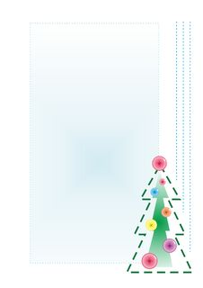 Free Embroidered Firtree From Threads And Buttons Stock Images - 17368784