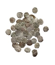 Free Old Medieval Turkish And Tatar Coins Stock Photography - 17369192