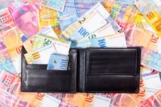 Free Wallet Full Of Swiss Francs Stock Photography - 17369222