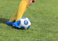 Free Kicking The Ball Royalty Free Stock Photography - 17369687