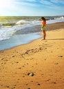 Free Girl On The Beach. Stock Photos - 17374113
