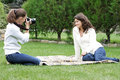 Free Young Women Taking Pictures On Natural Background Royalty Free Stock Photos - 17374998