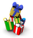 Free Colored Gift Boxes Royalty Free Stock Photos - 17375708