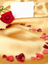 Free Red Rose And  Greeting Card Royalty Free Stock Image - 17377466