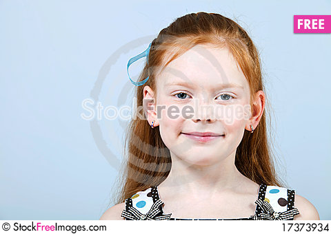Free Portrait Of Trendy Red-haired Girl Stock Images - 17373934