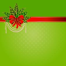 Free Christmas Red Bow Stock Images - 17370084