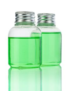 Free Plasticals Bottle With Green Liquid Stock Photo - 17370140